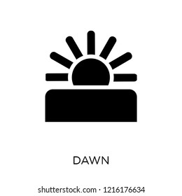 Dawn icon. Dawn symbol design from Weather collection. Simple element vector illustration on white background.