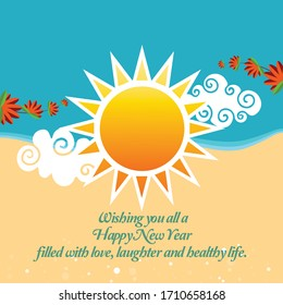 The dawn of the Sinhalese & Tamil New Year vector.Sinhalese celebration.