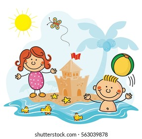 Day at the beach kids collection