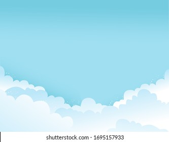 day blue sky with white clouds on it