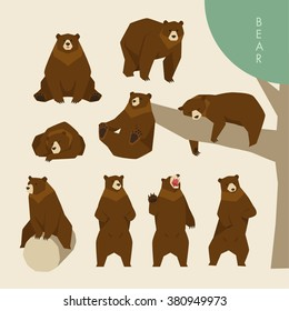 Day of a brown bear