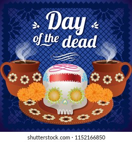 Day Of The Dead Altar Composition - Copy Space