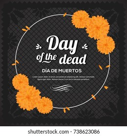 Day Of The Dead - Black Copy Space Composition