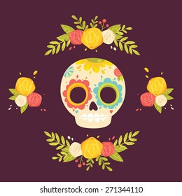 Crâne Mexicain Stock Illustrations Images Vectors