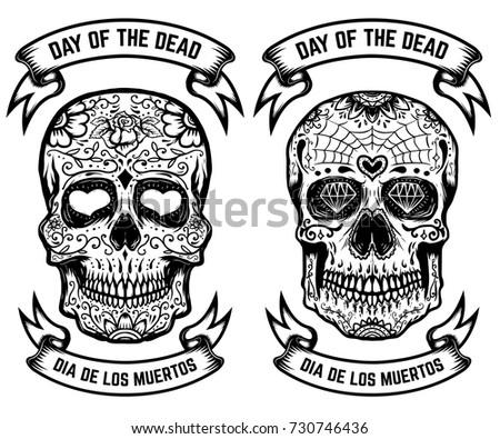 day dead dia de los muertos stock vector royalty free 730746436