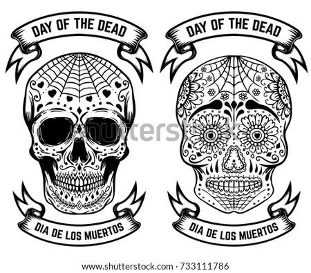 day dead dia de los muertos stock vector royalty free 733111786