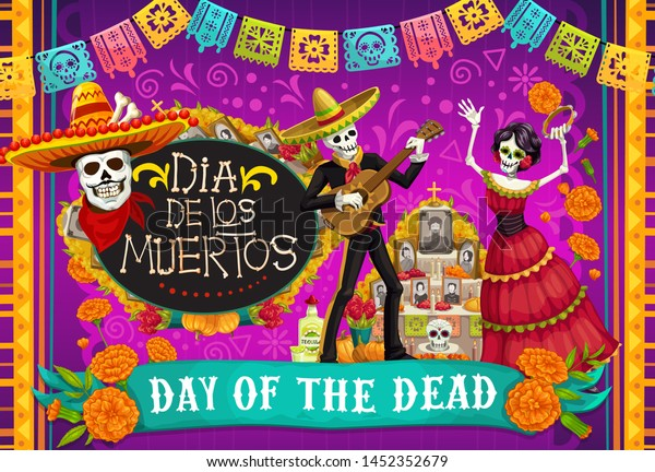Day Dead Dia De Los Muertos Stock Vector Royalty Free 1452352679