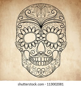 Day of The Dead grungy Skull