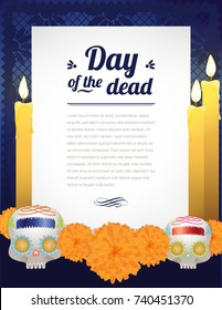 Day Of The Dead Letter Altar Composition - Copy Space