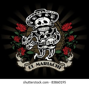 Day of the Dead Mariachi Skeleton