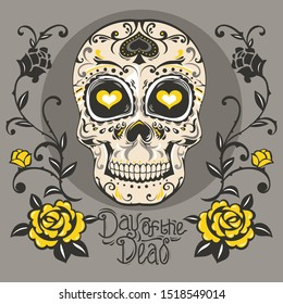 Day of the Dead Mariachi Skeleton for poster, flyer and invitation