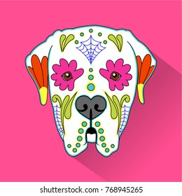 Day of the dead & Mexican folk art Dog Heads