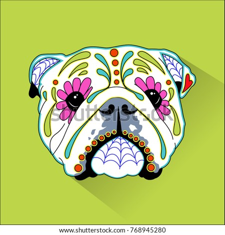 Day Of The Dead Mexican Folk Art Dog Heads
