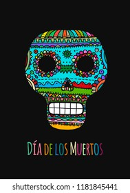 Day of the dead. Mexican sugar skull for your design