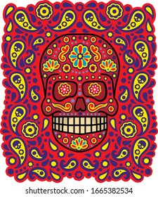 Day of the Dead, mexican sugar skull, vintage design t shirts