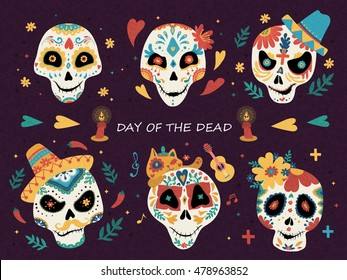 day dead poster mexican sugar 260nw