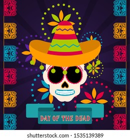 Day of the dead poster - Vector illustration