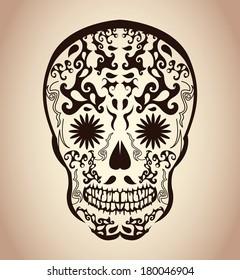 Sugar Skull Tattoo Design Images Stock Photos Vectors Shutterstock
