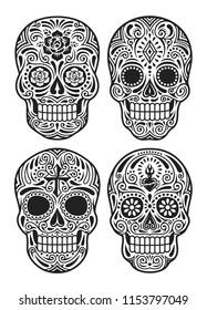 day dead skull vector illustration 260nw