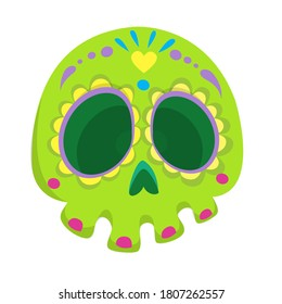 Day of the dead vector illustration. Cartoon skull