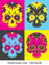 Day of the dead vector pop art