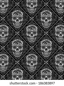 Day of the Dead Wallpaper Pattern