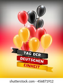 The Day of German Unity. The national day of Germany 3 October.