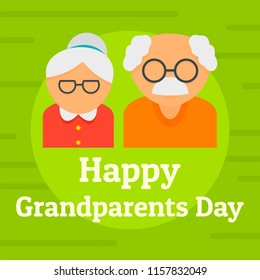 Day of happy granparents background. Flat illustration of day of happy granparents vector background for web design