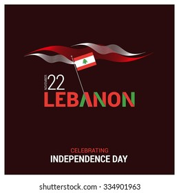 The Day of Lebanon, Vector Lebanese Independence Day Celebrating 22nd November. Celebration Card. Abstract white and red lines pattern. Illustration