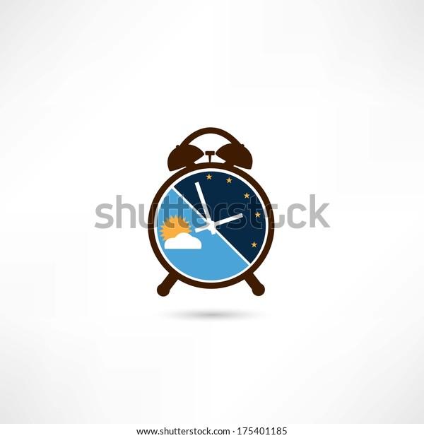 Day and night alarm clock