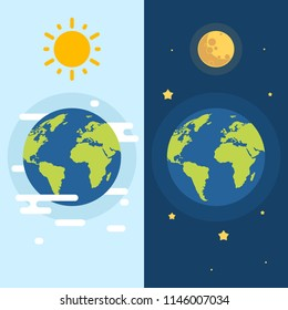 Day and Night with Sun and Moon