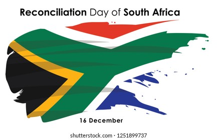 The Day of Reconciliation is a public holiday in South Africa held annually on 16 December design vector illustration