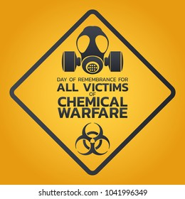 Day of Remembrance for all Victims of Chemical Warfare logo icon design, vector illustration