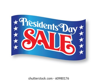 Presidents' Day Sale Vector Lettering