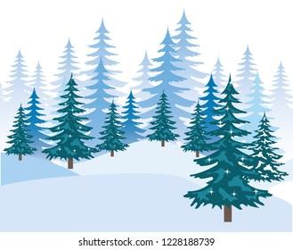 day snowscape field scene