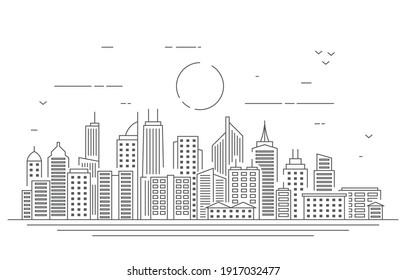 Stadthauptstadt-Gebäude Stadtlandschaft Illustration