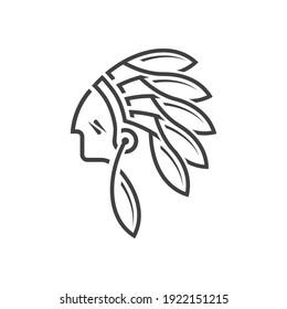 Dayak Tribe Mascot Logo Design Inspiration