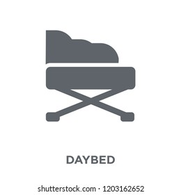 Daybed icon. Daybed design concept from Furniture and household collection. Simple element vector illustration on white background.