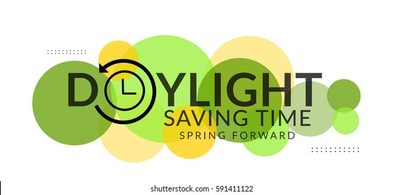 Daylight Saving Time Poster Or Banner Background.