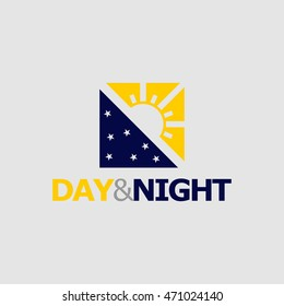 Day&Night Logo available in vector/illustration