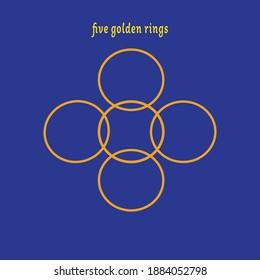 days of Christmas, 5 golden rings