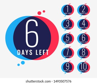 days left countdown number banner design