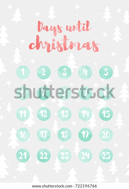 Days Until Christmas Countdown.Days Until Christmas Christmas Countdown Vector Stock Vector
