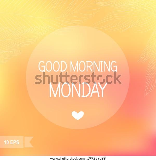 Tage Der Woche Guten Morgen Montag Stock Vektorgrafik