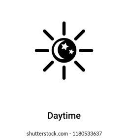 Daytime icon vector isolated on white background, logo concept of Daytime sign on transparent background, filled black symbol