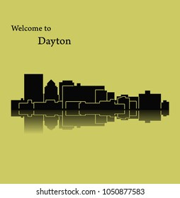Dayton, Ohio ( city silhouette )