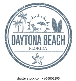 Daytona Beach sign or stamp on white background, vector illustration