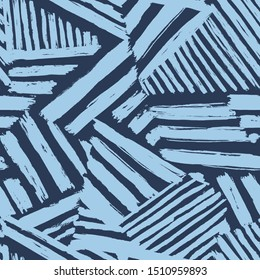 Dazzle camouflage seamless abstract pattern drawn by brush