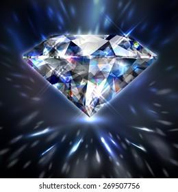 Dazzling shiny colorful diamond background - eps10