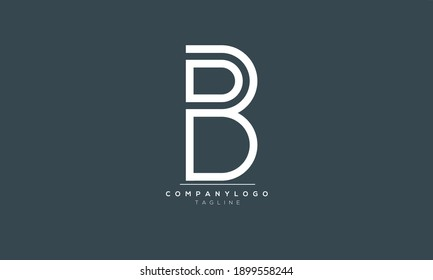 DB abstract initials monogram letter text symbol alphabet logo design